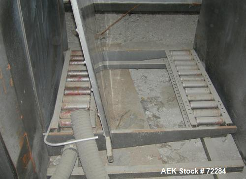 Used- Continental Container single high empty can de-palletizer. Last ran 603 x 904 composite cans. Right angle pallet infee...