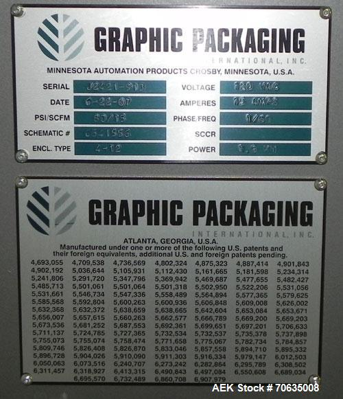 Used- MGS Graphic Packaging Outserter and Conveyor