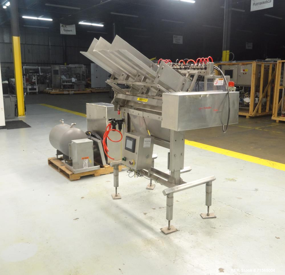 Used- Barry-Wehmiller Reciprocating Placer 3-Head Tray Inserter