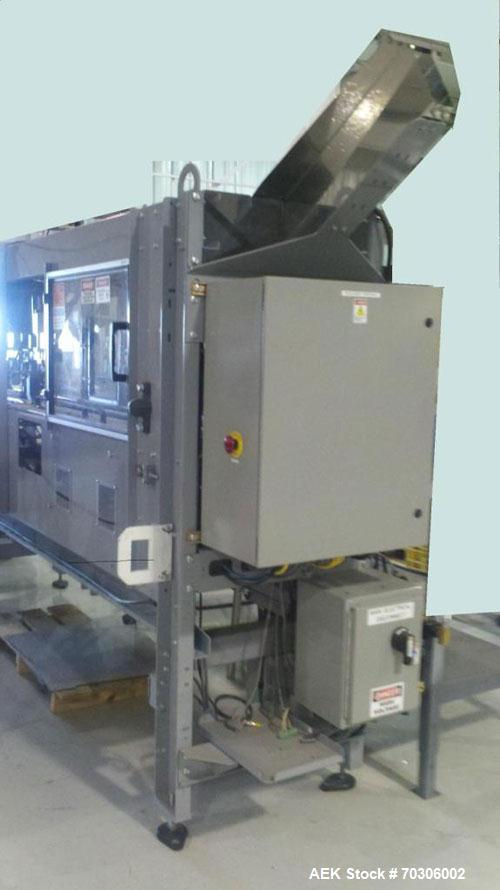 Used-TAD Packaging Clamshell Denester, Model 23C.  Denests clamshells at a rate of 1.5 s/clamshell, 5 station chain driven c...