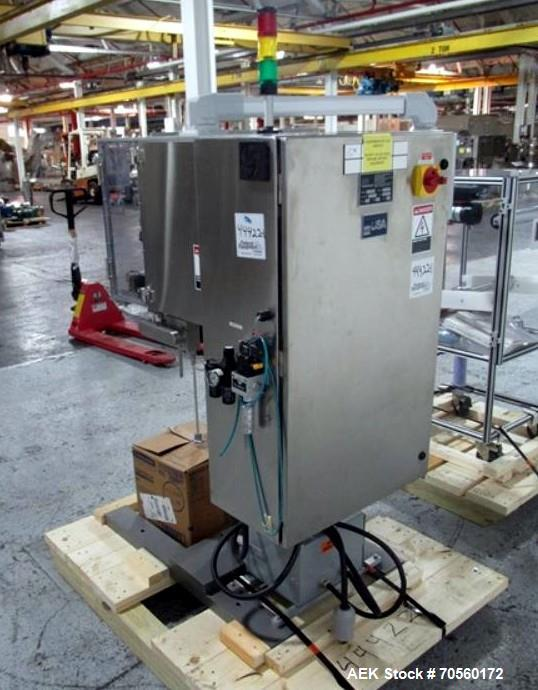 Used- Active Pak Automation dessicant feeder, model APA2000, portable design, with infeed roll, 480 volt, 3 phase, serial# 2...