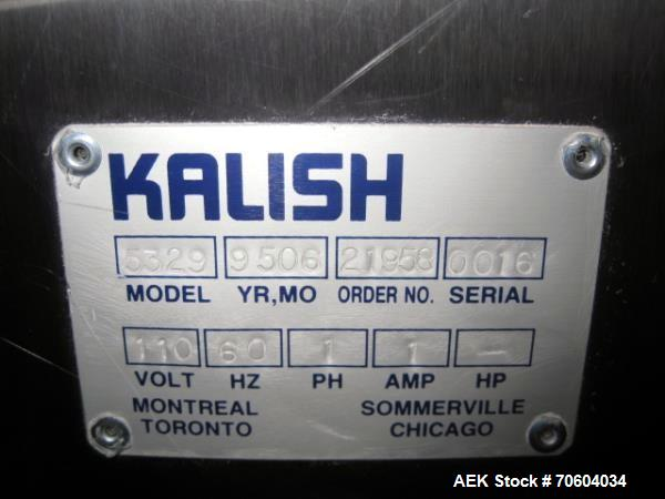 Used- Kalish Model 5329 Canister Dessicant Feeder