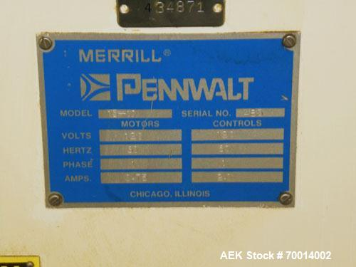 Used- Merrill Pennwalt Model 15-10 (10) Head Desiccant Canister Dropper