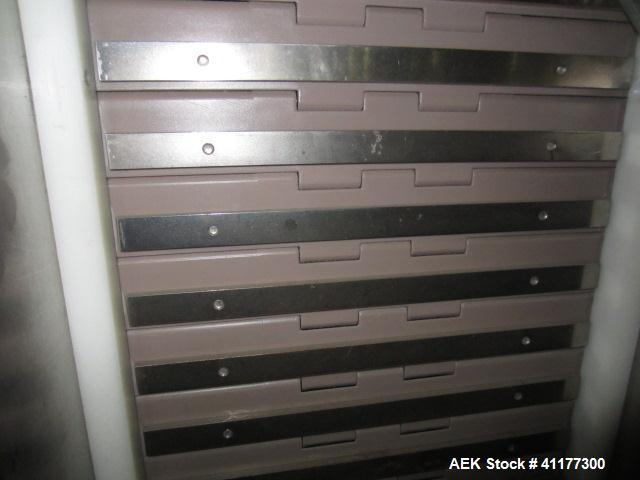 Used- Anderson Machine Systems stainless steel cleated belt cap elevator