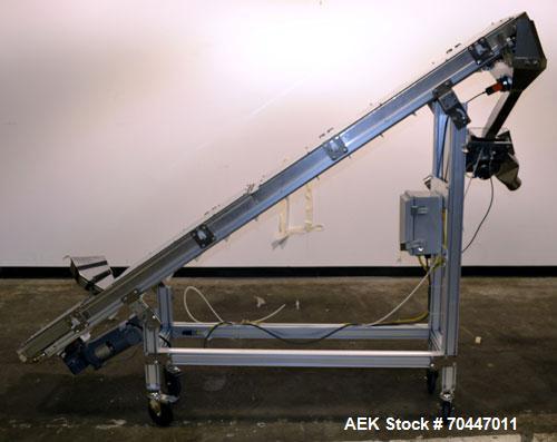 Used- Flex Link Incline Cleated Belt Conveyor