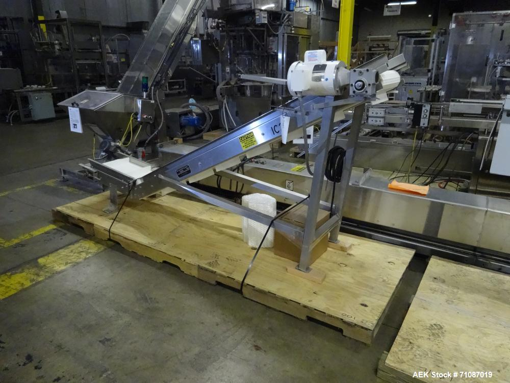 Used- Kamflex Model 810 Stainless Steel Cleated Incline Conveyor