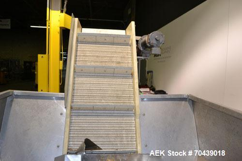 Used- Stainless Steel New England Machinery Cap / Bottle  Elevator, Model H/E-60