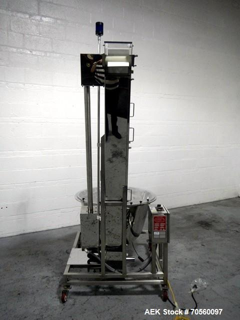 Used-Palace Packing Hopper Feeder, Model TH-6-77. Approximate 6' feed height. Serial# 7982.