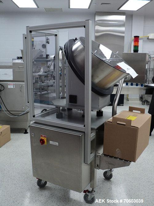Used- Romaco Cap Feeder/Placer, Model Bosspak CP6100, Serial #9505.