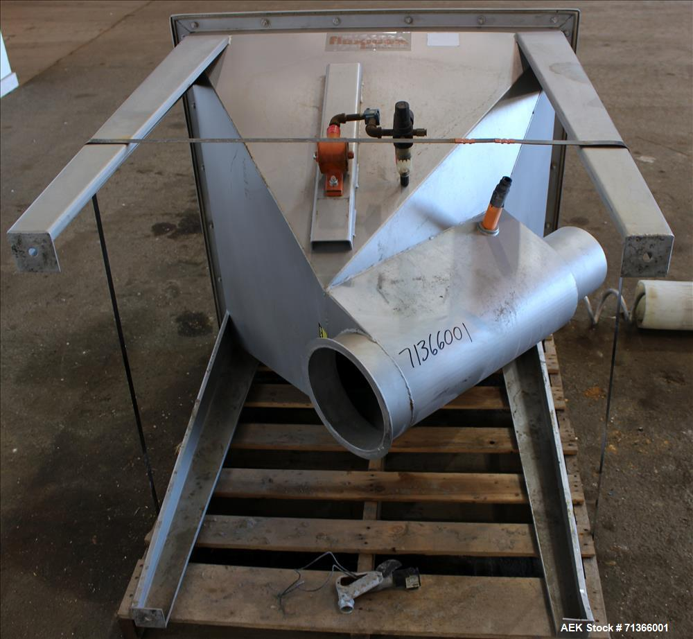 "Used- Flexicon Flexible Screw Conveyor, 304 Stainless Steel. Approximate 5"" diameter x 252"" long screw. Driven by a 10hp, 3/..."
