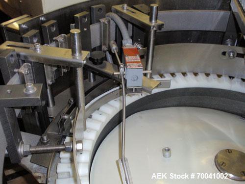 Used- Hoppmann Corporation Centrifugal Bowl Feeder, Model FS/25, Stainless Steel. Includes a Hoppmann live bottom prefeeder,...