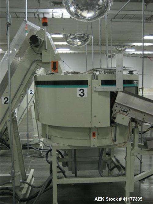 Used- Hoppmann Corporation Centrifugal Bowl Feeder, Model FT40-CRS. Rated 1000 parts per minute. Includes a control panel an...