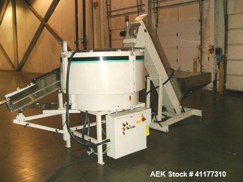 Used- Hoppmann Shibuya Model FT40-CRS Corporation Centrifugal Bowl Feeder. Rated 1000 parts per minute. Includes a control p...