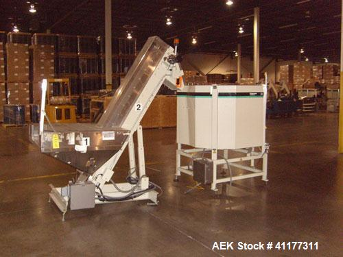 Used- Hoppmann Corporation Centrifugal Bowl Feeder, Model FT40-CRS. Rated 1000 parts per minute. Includes Hoppmann Elevating...