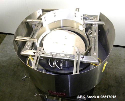 Used- Stainless Steel Palace Packaging Machines Centrifugal Bowl Feeder, Model CB-26