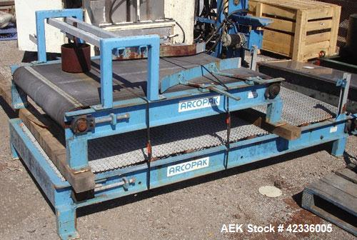 """Used- Arcopak Dual Spout Valve Bag Packer, Type C-300. 2"""" Stainless steel spouts, independent 5 hp, 575 volt motors, Weightr..."""