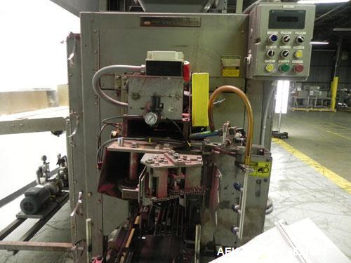 Used- Bemis Model 7115E168 Bag Filler with Model 6162A2 Duplex Net Weigh Scale & automated Bemis bag placer with blank bag m...