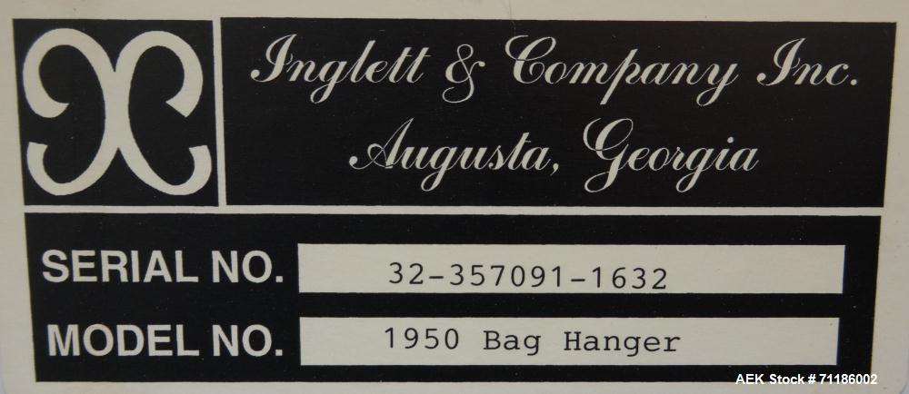 Used- Inglett Model 1950 Open Mouth Bulk Bag Filler