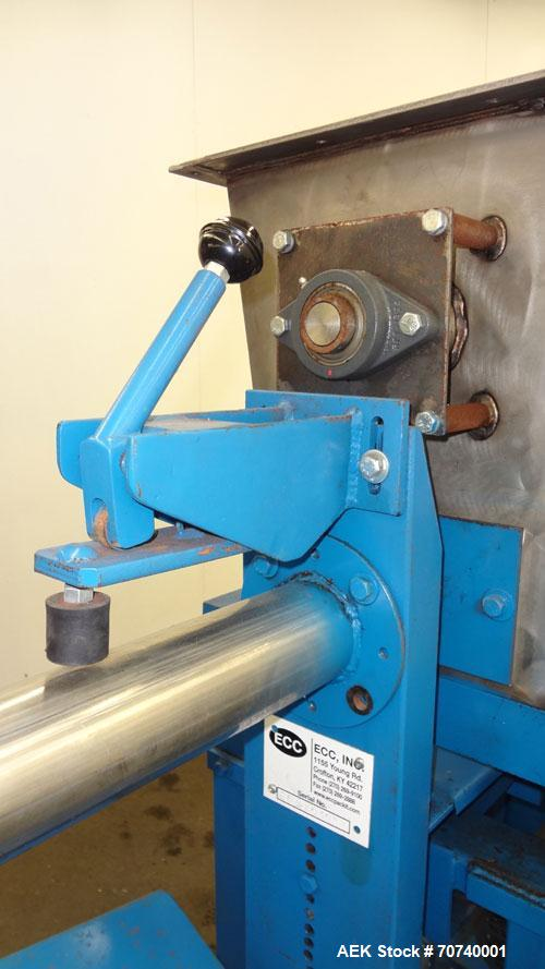 Used- ECC Auger Valve Type Auger Bagger, Model 206E. 304 Stainless steel product contact parts. Production rates up to (6) 5...