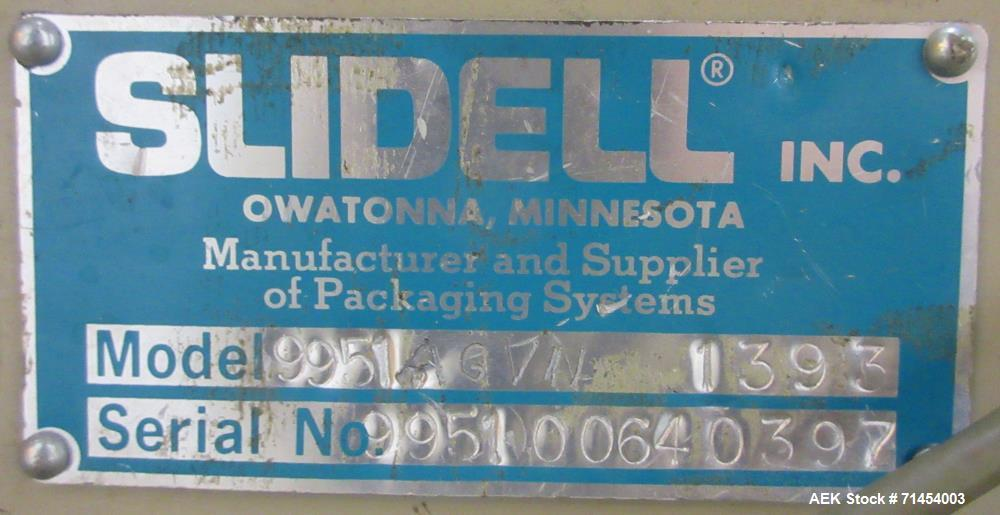 Used- Slidell-Matic (Thiele) 3120 Bag Filling Line Fpr Granular Products