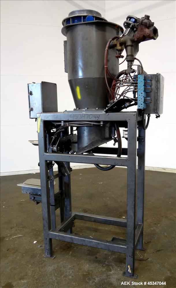 Used- Thiele Air Valve Bag Packer. Capable of speeds up to 10 bags per minute. H