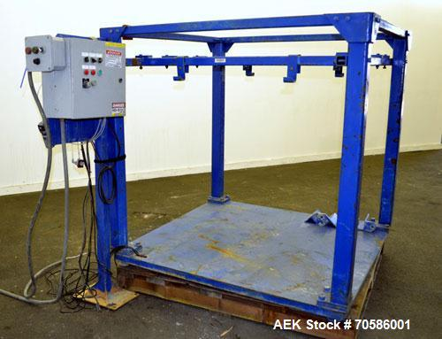 "Used- Rice Lake Bulk Bag Weigh Filling Station (Pipe Lever Scale). Approximate 60"" wide x 60"" long platform, 67"" tall with a..."