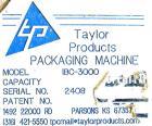 Used- Taylor Products IBC-3000 bulk bag loader or super sack loader. Super sack loading system has a weight range from 100lb...