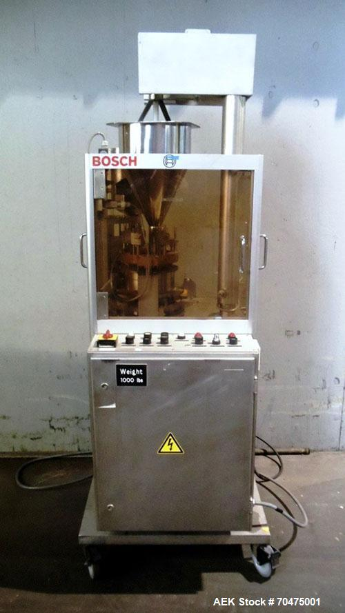 Used- Bosch Automatic Capsule Filler, Model GKF-120. Rated up to 120 capsules per minute. Includes size, 0, 1, and 3 change ...