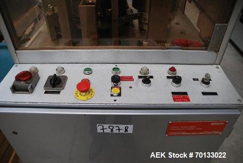 Used-Bosch Automatic Capsule Filler, Model GKF 330.  Stainless steel tooling, 19,800 capsules per hour.  Includes capsule fe...