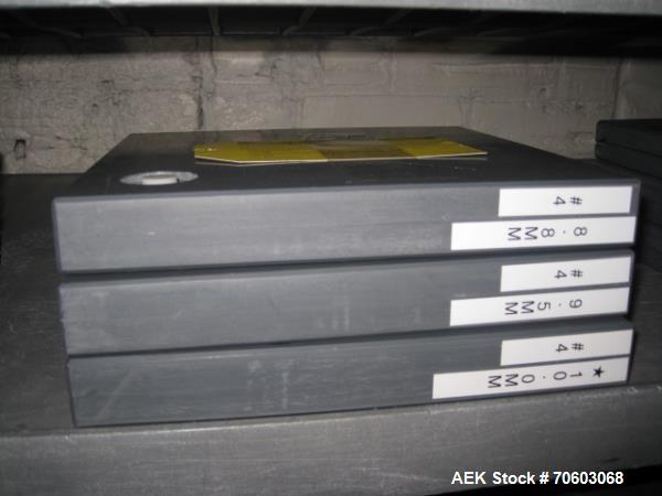Used- Bosch GKF 400 Capsule Filler Dosing disks, size 4, 4.7mm, 5.3mm, 6.0mm, 6.8mm, 7.4mm, 8.0m, 8.8mm, 9.5mm, 10.0mm, 10.5...