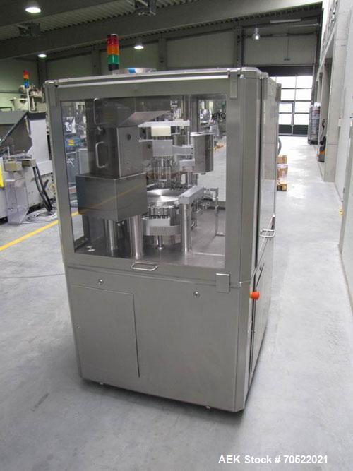 Used-Macofar CD60.  Maximum output 50,000 capsules/hour, capsule sizes 00-0-0L-1-2-3-4-5, powder dosing unit, PLC Hitachi H-...