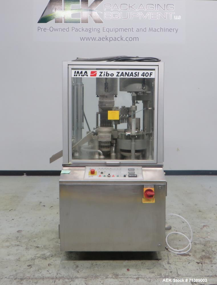 Used- IMA (Zanasi) Model Z40F Capsule Filler.