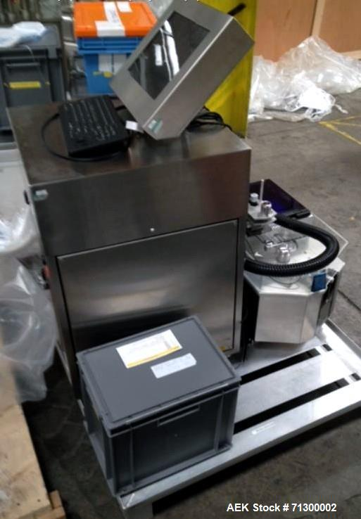 Used-Capsugel Filler, Type Xcelodose 600. Stainless steel contact surfaces, rated up to 600 capsules/hour with capsule hoppe...