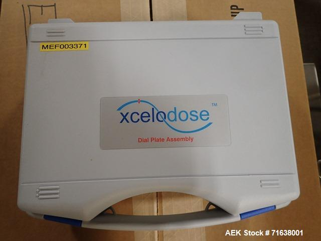 Used- Capsugel Xcelodose 120 Capsule Filler with Controller, Scale and Associate