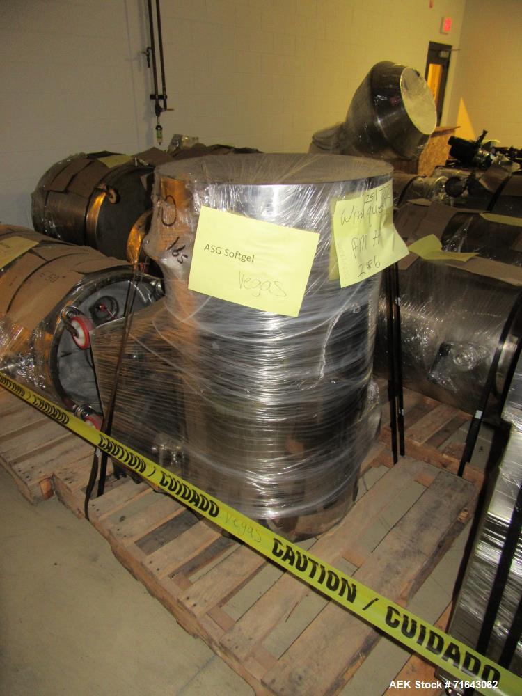 "Used- Pharmagel Engineering Model MK3LS Complete ""Softgel"" Line. Line had forming machine, 6 cooling drums with air handler ..."
