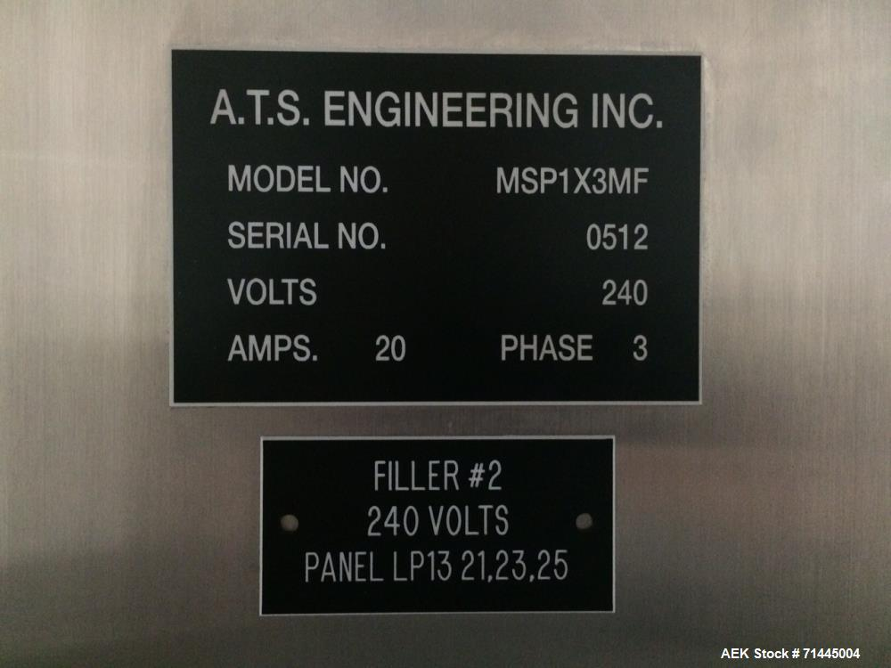 Used- ATS Engineering Model MSP1X3MF 3 Three Lane FOB Cup Filler