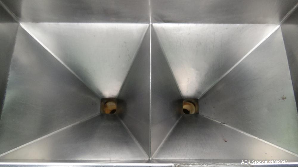 Used- Autoprod Model Fast Pack PF-1X2Dual Lane Tub Filler
