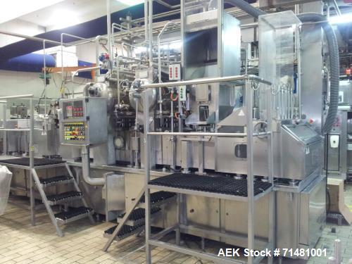 Used- Hamba BK 6004/4 Cup Filling and Sealing Machine (made in Germany). Including: Conveyor, electric box and vacuum supply...
