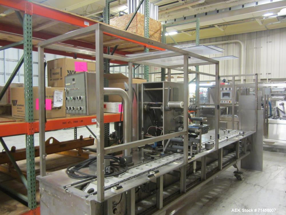 Used- Holmatic Model PR1 Automatic Inline Cup Filler, Sealer and Overlidder