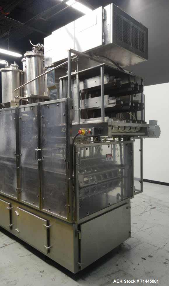 Used- Osgood Model 6400 FOB Fruit On Bottom Yogurt Cup Filler