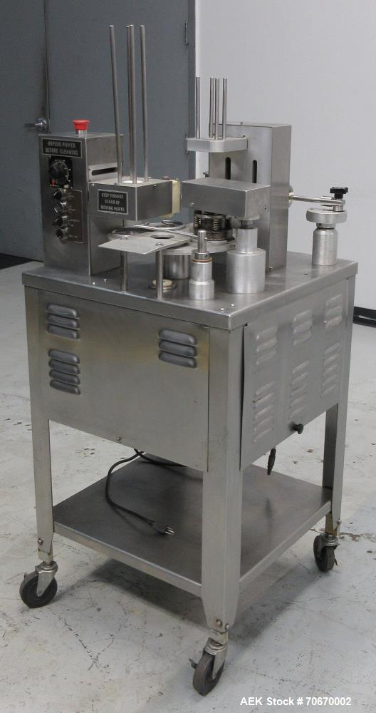Used- Autoprod (Oystar) Model 2000 Fil-N-Seal Rotary Cup Filler and Heat Sealer