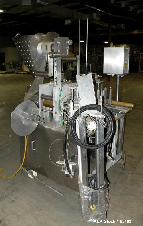 """Used- Autoprod Cup Filler, Model RO-A3, 8 station, stainless steel. Currently set up for 4-1/4"""" diameter cups. Jacketed stai..."""