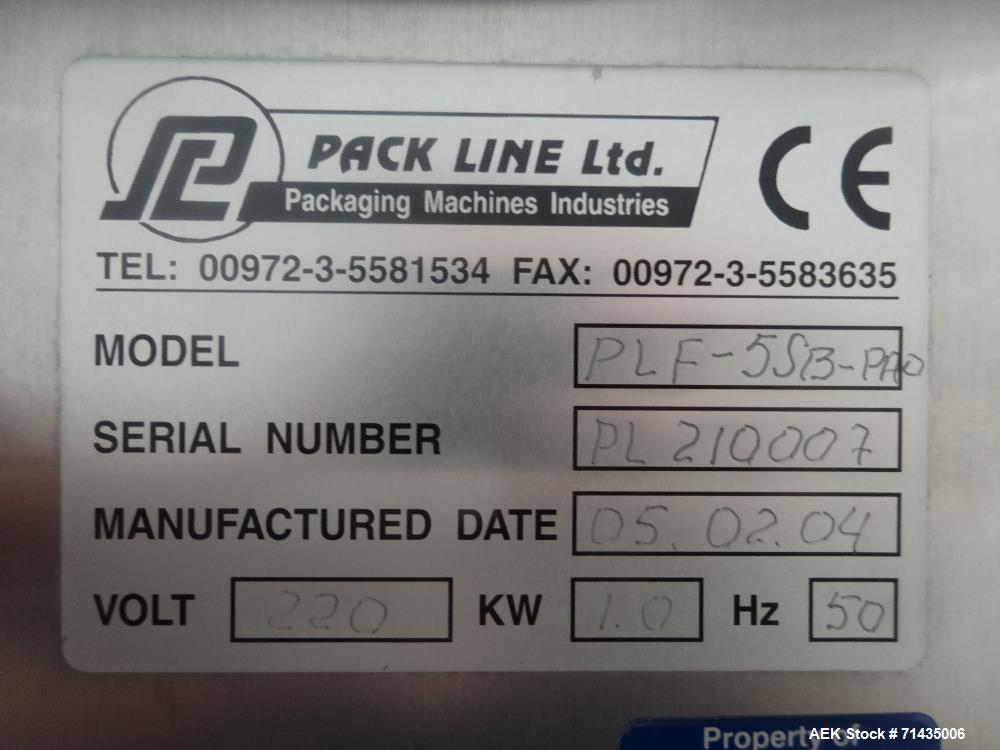 Used- Pack Line Model PLF-55B-PAO Rotary Cup Sealer.