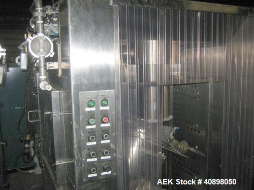 Used- Stainless Steel Extract Technology Laminar Pack Off System for powder filling.