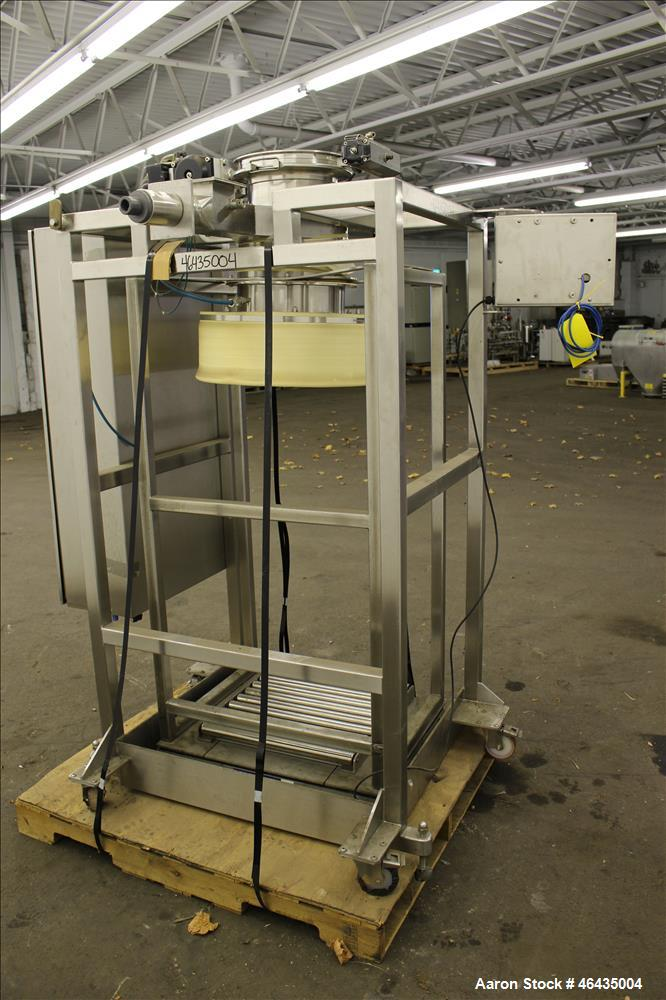 """Used- Extract Technology Pack-Off Isolator. 10"""" Diameter filling head with 20-3/4"""" diameter cone sealing head. Top pneumatic..."""