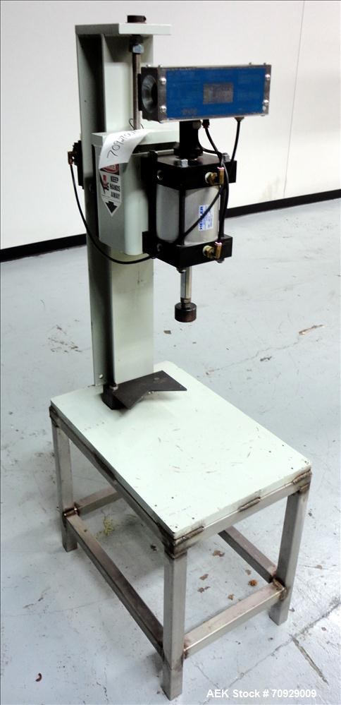 Used- Heisler Model MLP 3G5GP Semi-Automatic Metal Lid Crimper