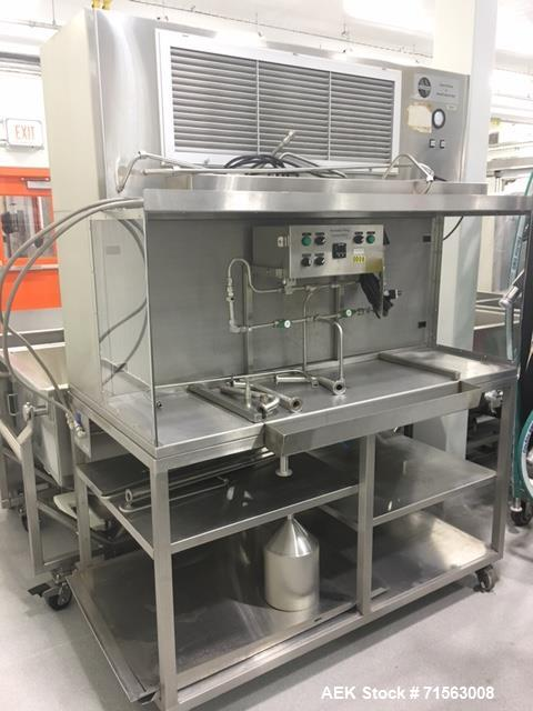 Used-MicroThermics R&D/Lab Filler with Hepa Enclosure