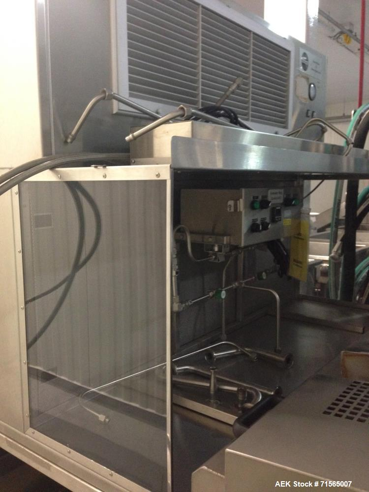 Used- MicroThermics R&D Lab Filler with Hepa Enclosure.