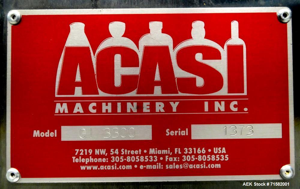 Used- ACASI Model GI 3300 Expandable Pressure Overflow Bottle Filler