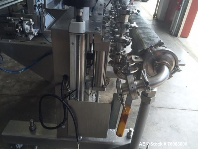 "Used- 8 Head ACASI Piston Filler. Includes: (8) 10"" long x 2.5"" diameter stainless steel pistons, approximately 22 oz. (8) 9..."